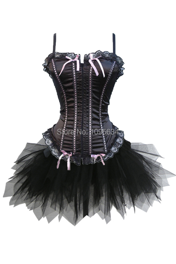 10481cd0211 Get Quotations · Free shipping Corsage-Dress Corset Mini Skirt Straps Sexy  S-6XL in stock