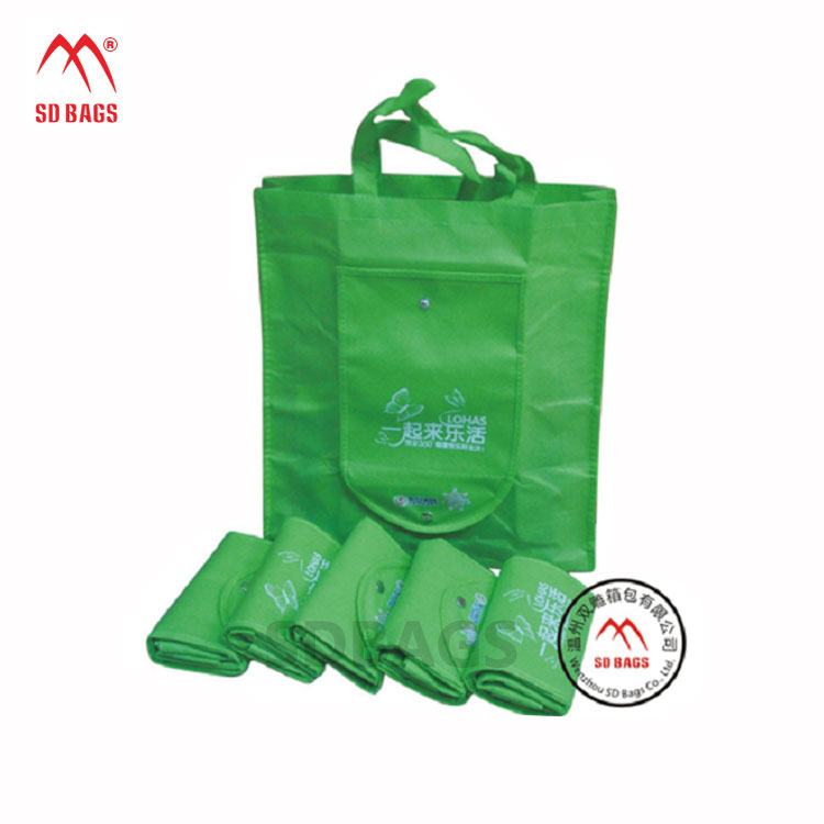 wholesale standard size eco friendly reusable foldable non woven shopping bag