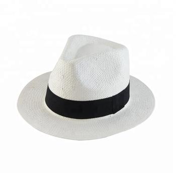 a8df10efd9d4f Moda verano vintage sombreros de paja cinta negro barato al por mayor  Sombreros de Panamá ecuador