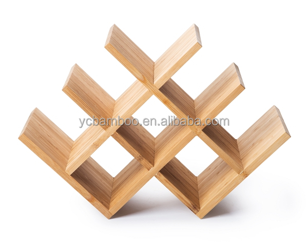 Bamboo Wooden Wine holder for 8 bottles