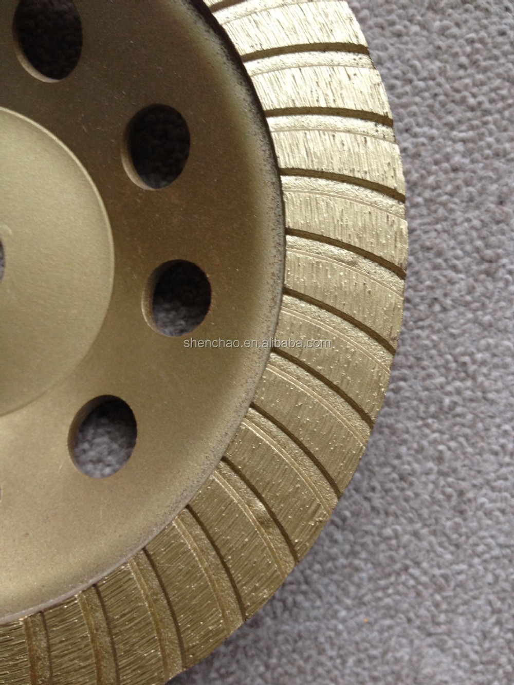 180*22.23/20mm turbo cup wheel have long grinding life for grinding and polishing concrete,masonry,brick,block etc