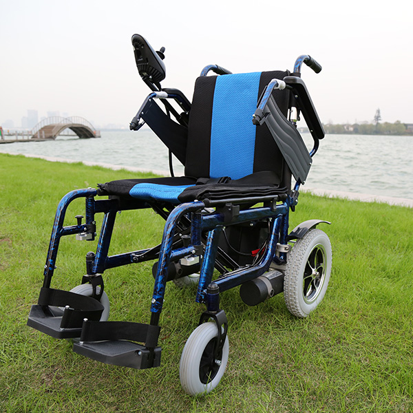 chinese supplier armrest adjustable electric wheelchair with reclining backrest