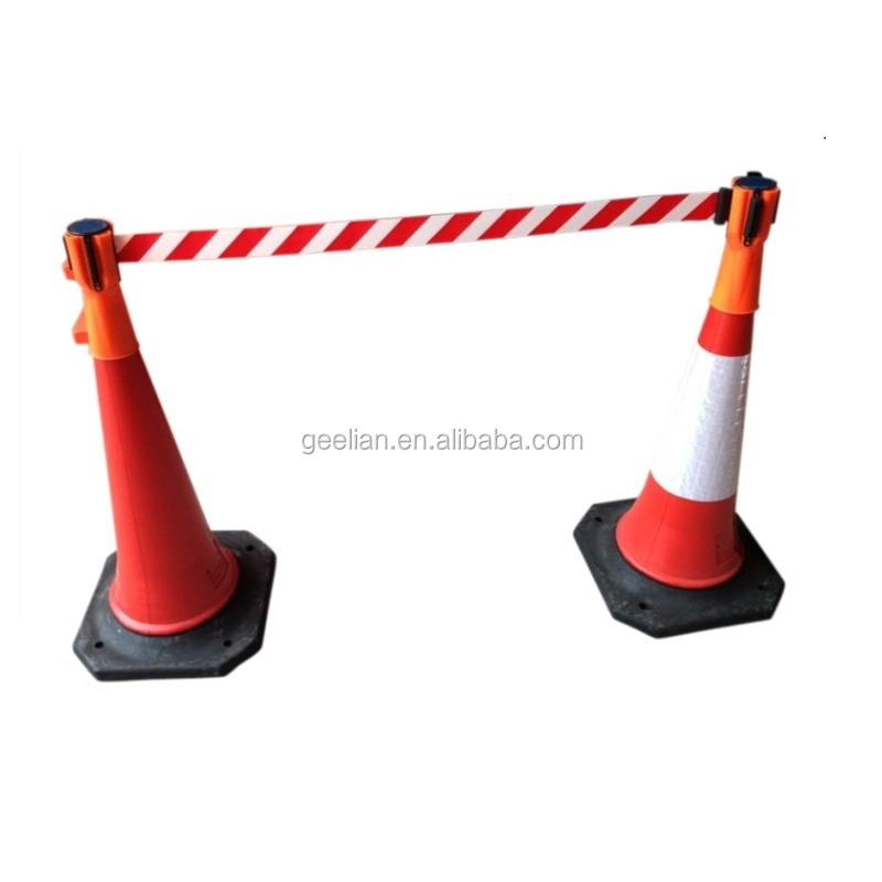 Skipper Cone Mounted Barrier Tape Red//White