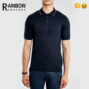 Fashion Design Customized Your Logo Mens Black Formal Polo Tshirt