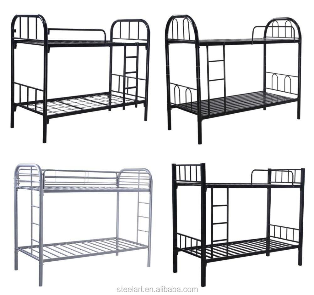 Steel double deck bed - New Design Children High Safety Steel Double Decker Bed