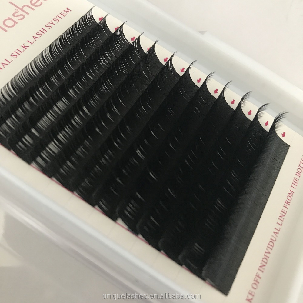Classic eyelashes individual lashes matte C D curl colored korean eyelash extensions