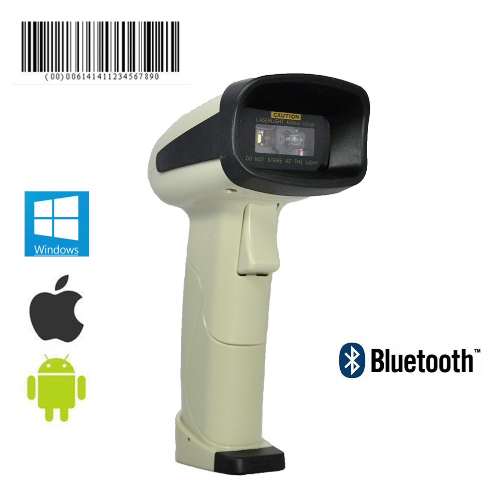 OBM-380B 1D Bluetooth Handheld Barcode Scanner compatible with android ios devices