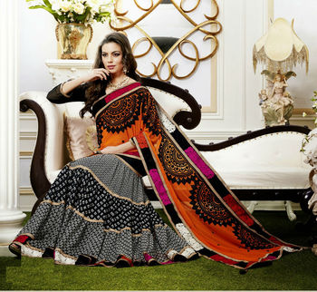 beautiful indian designer wedding party wear lengha saree