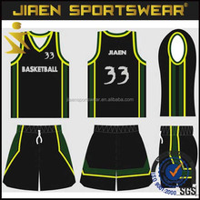 oem custom double face basketball uniform black basketball uniform
