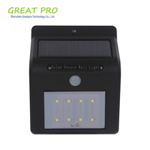 Led Plastic Solar Garden Light Rechargeable Wall Mounted Door Lawn Yard Lamp Outdoor Camp Solar Wall Light