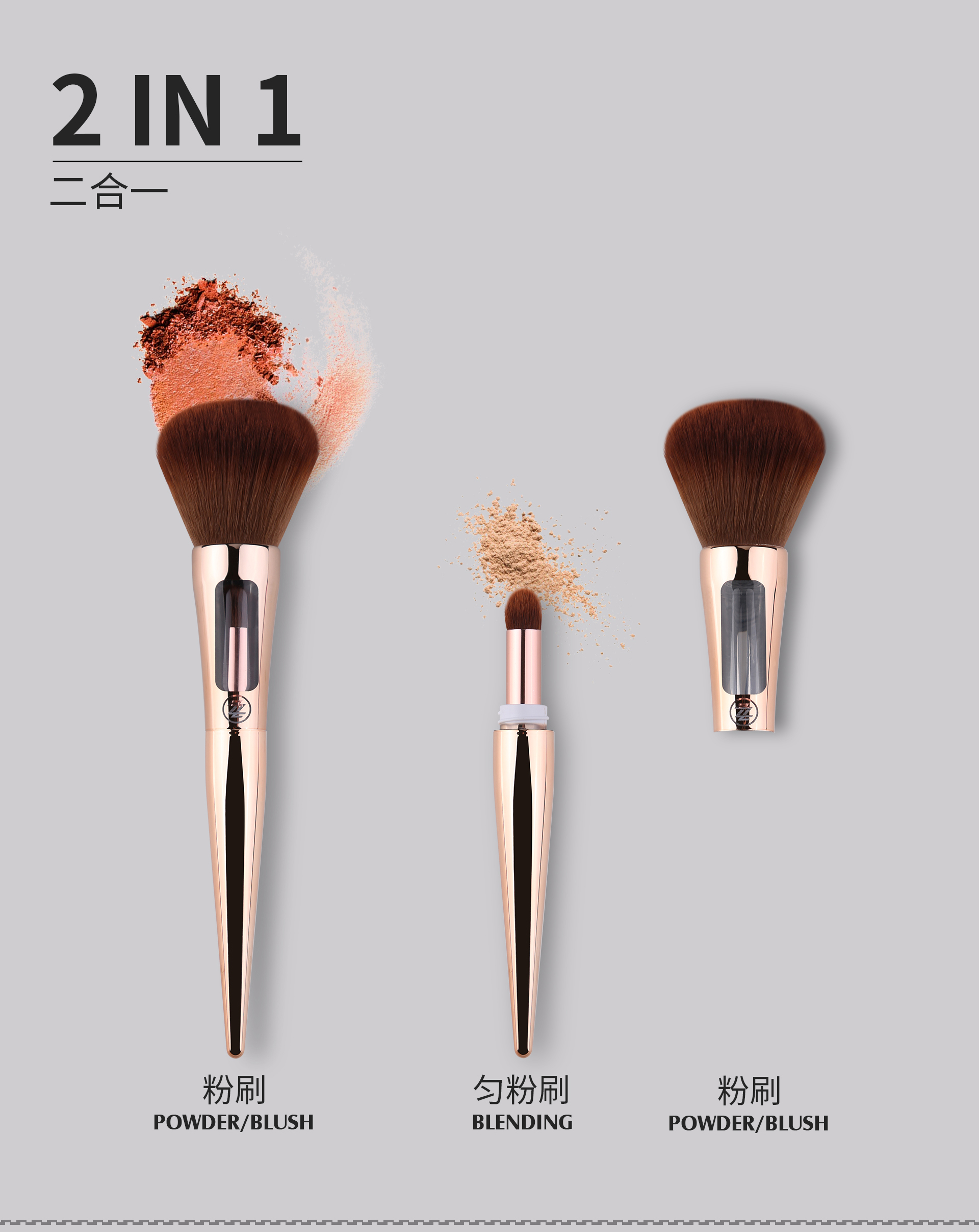 Multifunctional Synthetic Hair highlighter Brush Blending makeup brushes beauty tools
