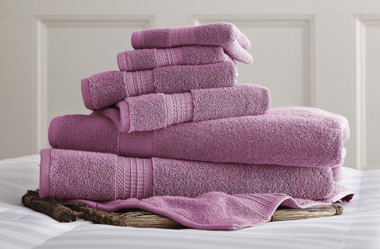 Pacific Coast Textiles 5CTN650G 650 GSM Luxury Spa Collection 100% Cotton Towel Sets, Violet, Standard (6 Piece)