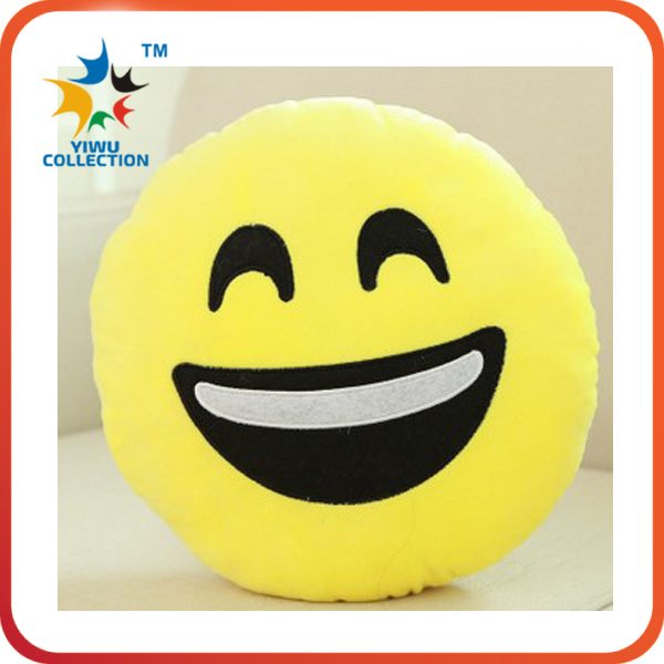 New styles smiley face soft toys emoji pillow