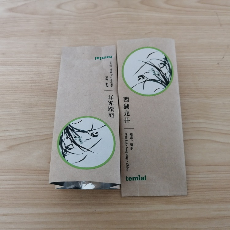 Support tracking barcode German company order side gusset aluminum foil craft paper tea bags for packaging In GMP workshop