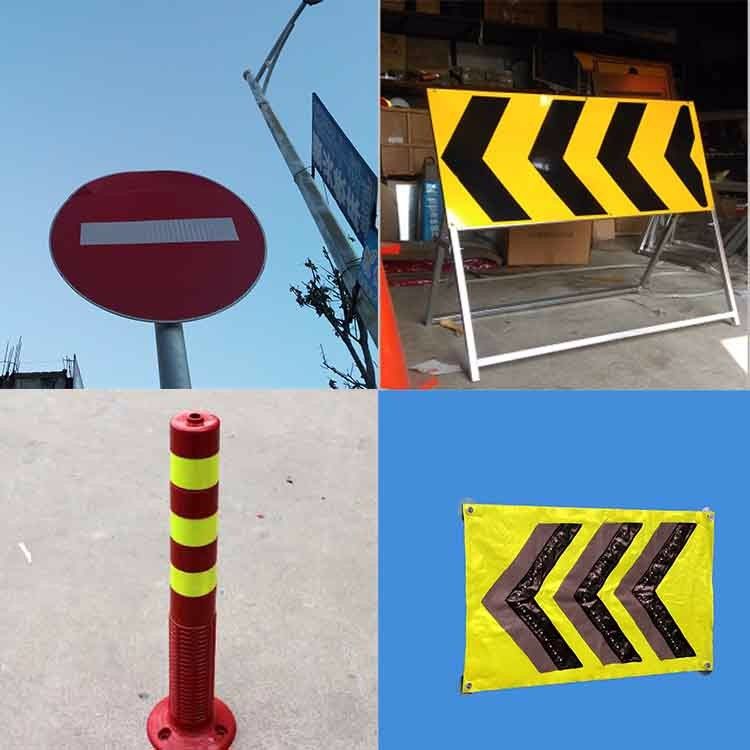 Various Design Emergency Warning Signs For Traffic