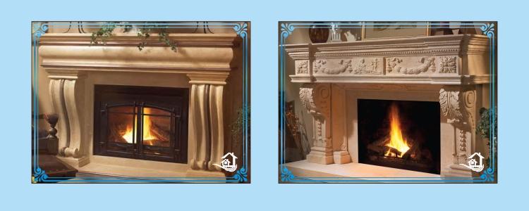 New Design Resin Mantel Fireplace
