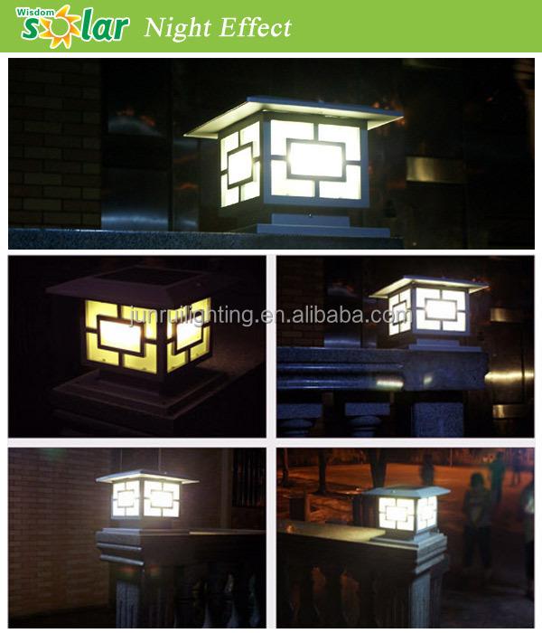 Solar Outdoor Pillar Light,LED Solar Garden Lights (JR 3018)