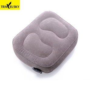 1 layer travel pillow inflatable footrest for airplane, office, car