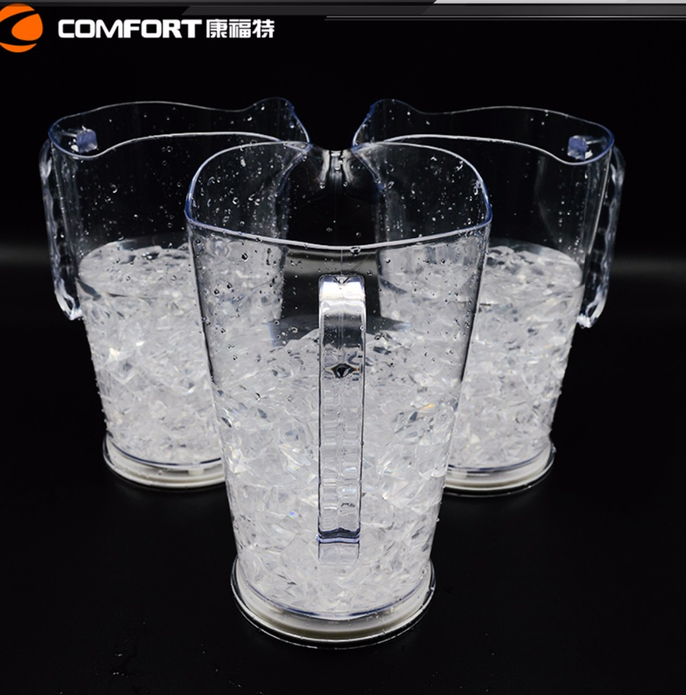 Transparent fruit infuser pitcher plastic infusion pitcher fruit infusion flavor pitcher