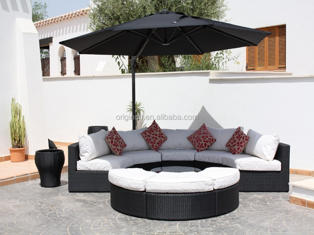 Elegant Half Round Garden Set Synthetic Rattan Sofa Outdoor Semi Circle  Furniture - Buy Rattan Sofa Outdoor Semi Circle Furniture,Half Round  Sofas,Synthetic