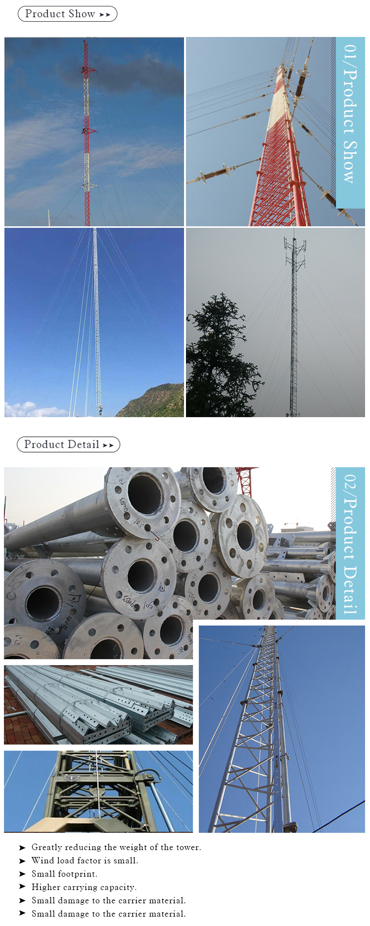 Guy Draht Turm Antenne Mikrowelle Stahl Telekomturm - Buy Product on ...