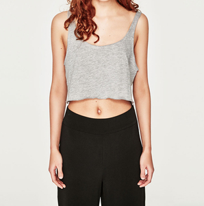 New design basic Ladies Custom grey black Fashion short sexy strappy crop top