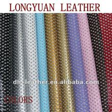 2012 hot sale glitter PVC leather for decorative