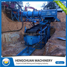 China small scale mini Gold trommel wash plant gold mining equipment