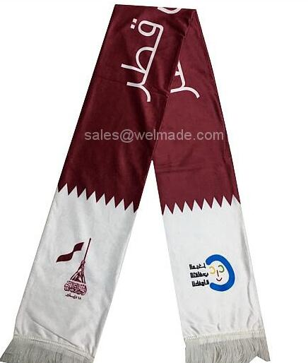 Qatar national day cotton scarf, wool scarf, qatar flags