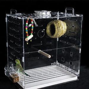 Transparent acrylic bird cage pet cages