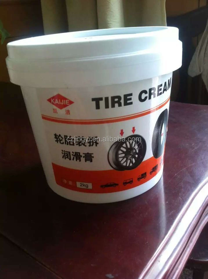 white color tire mounting paste