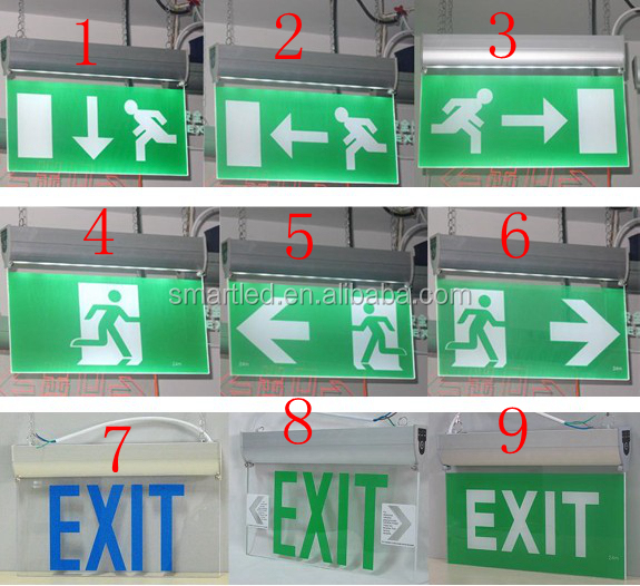 Manufacturer Supplier Of Exit Sign Light With 3 Years Warranty,Ce ...