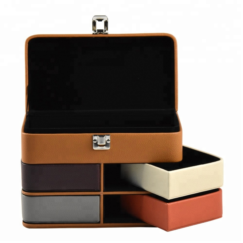 Customized multi-layer storage organizer box for making up