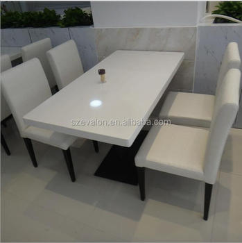 Restaurant Modern 10 Seater Marble Dining Table Set Solid Surface Acrylic Tables Coffee Top Sets