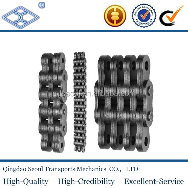 ISO standard ll series carbon steel dragging Leaf light duty forklift chains LL2466