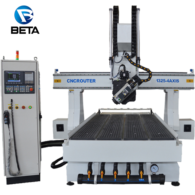 Sales promotion !! 4 axis ATC cnc wood router 1325 machine center for mold