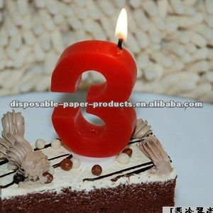 Wholesale Number Shaped Birthday Candles Unisex 1 2 3 4 5 6 7 8 9 0