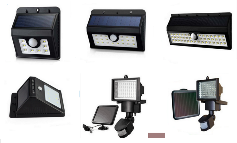 Wireless Bright Solar Powered Motion Sensor 44 Leds Light Outdoor ...