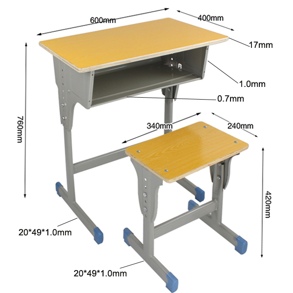 Kids Study Table Chair Fold Up And School Desk