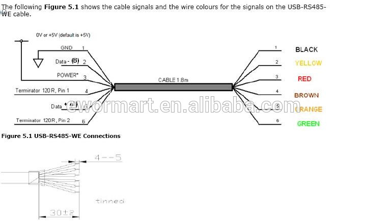 usb to rs485 wiring diagram   27 wiring diagram images