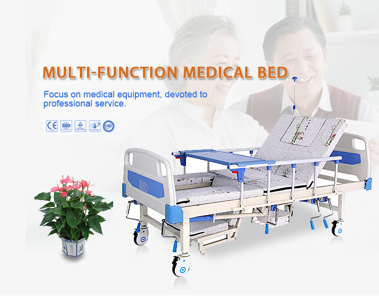 Elderly Used Manual Nursing Hospital Home Care Bed