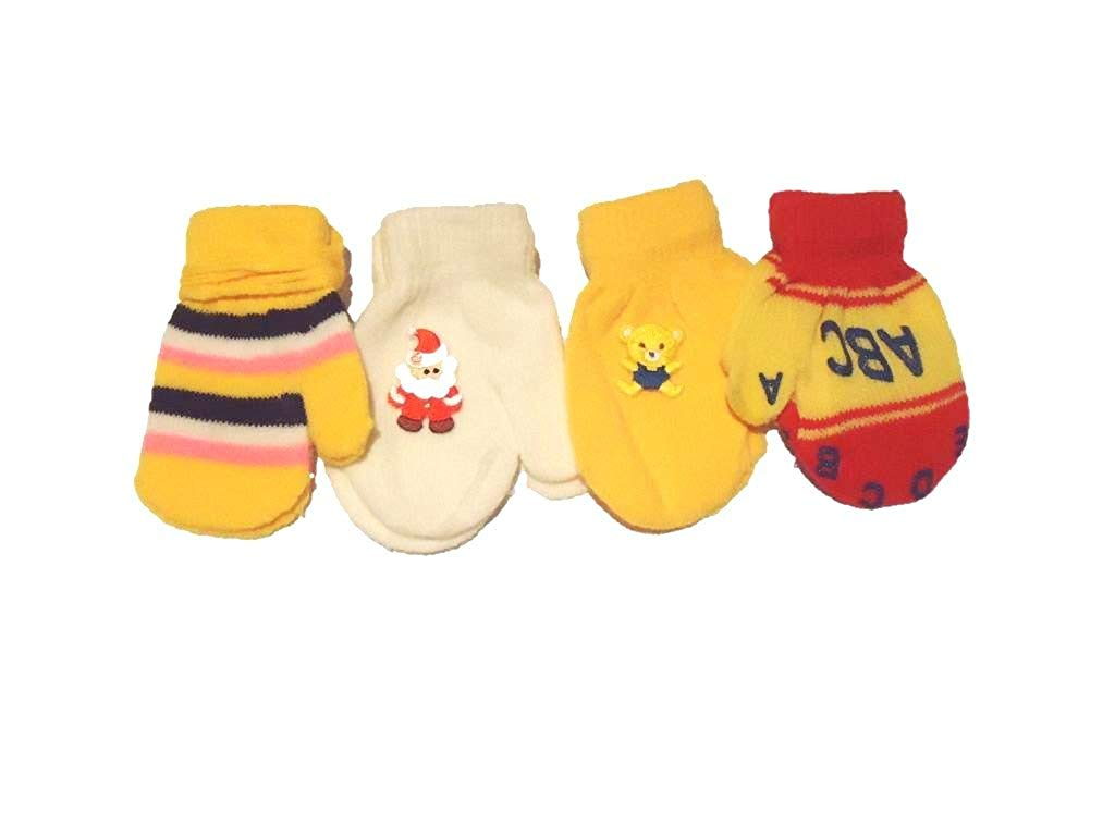 Set of Two Pairs Mongolian Fleece Very Warm Mittens for Infants Ages 3-12 Months Accessories Gloves & Mittens