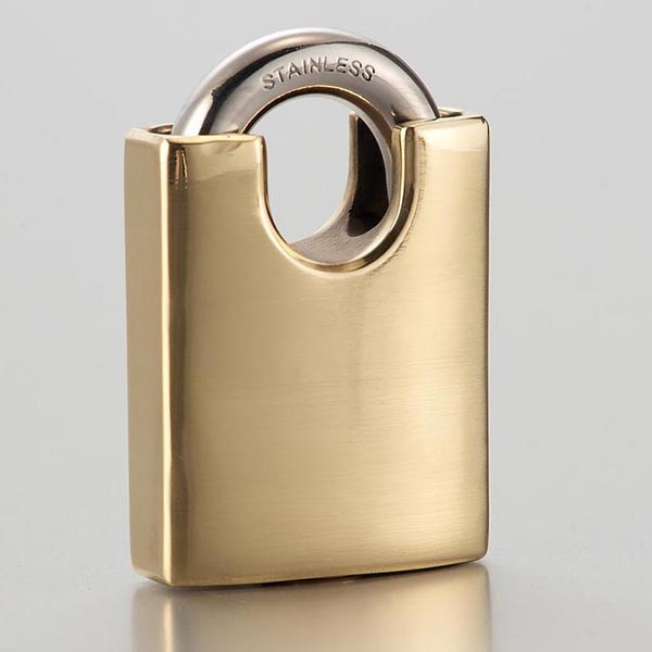 Polished brass warmed beam brass pad locks