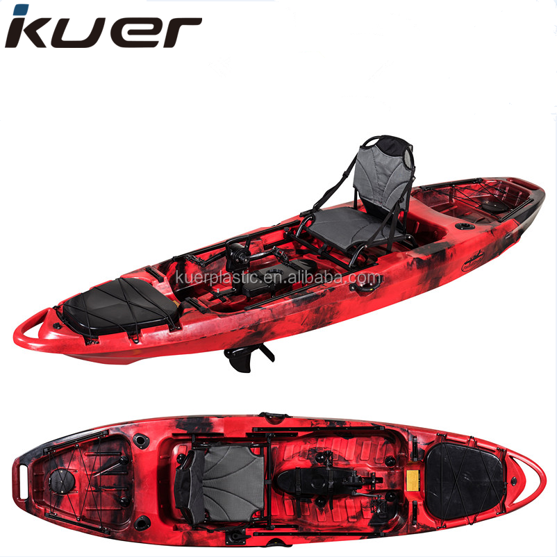 Factory wholesale cheap fishing kayak with pedal and frame seat