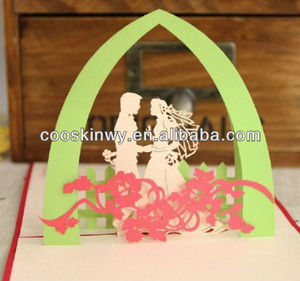 Creative and beautiful laser cut wedding card