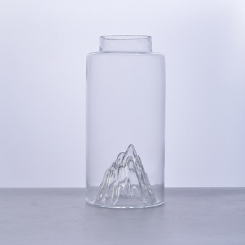 Clean unbreakable for glass bottle clear thin glass bottle