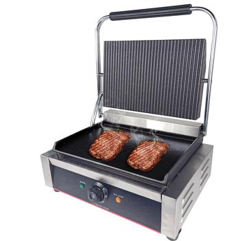 220v2200w Non stick Commercial Single Plate Steak Sandwich