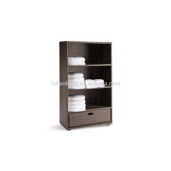 Outdoor Wicker Rattan Salon Towel Display Rack Buy Towel Display