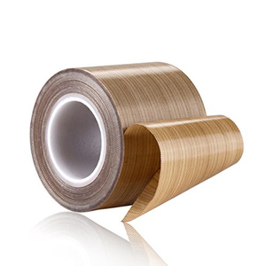 Brown adhesive backed woven fabric coated teflon tape for heat sealers