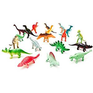 Fun Central Mini Vinyl Dinosaurs - Assorted 72ct